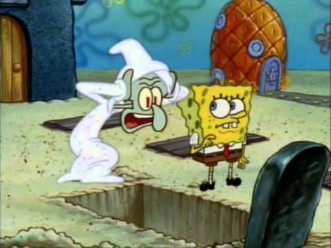 Spongebob, are you trying to put me in the nuthouse? No, just into this hole.