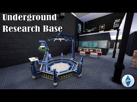Underground Military Research Base | THE SIMS 4: Speed Build