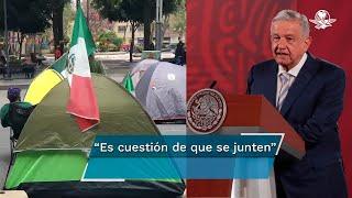 Sobre las marchas y el plantón del Frente Nacional Anti Andrés Manuel López Obrador, el Presidente señala que no cree que se trate de un movimiento violento; es un movimiento pacífico, civil, no será un golpe de Estado, dice