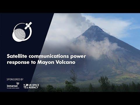Satellite communications power response to Mayon Volcano