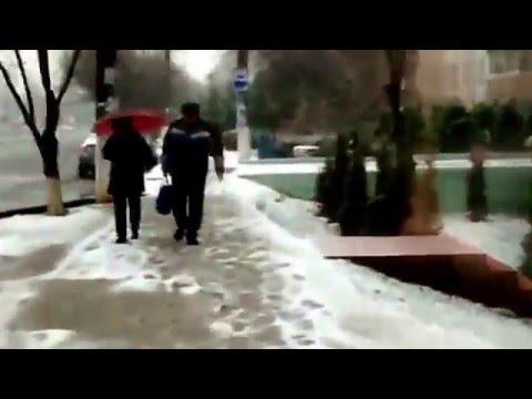 Fast winter Tashkent city