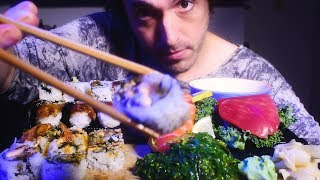 ASMR Sushi + Sashimi Mukbang F…