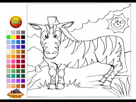 Zebra Coloring Pages For Kids Zebra Coloring Pages Youtube