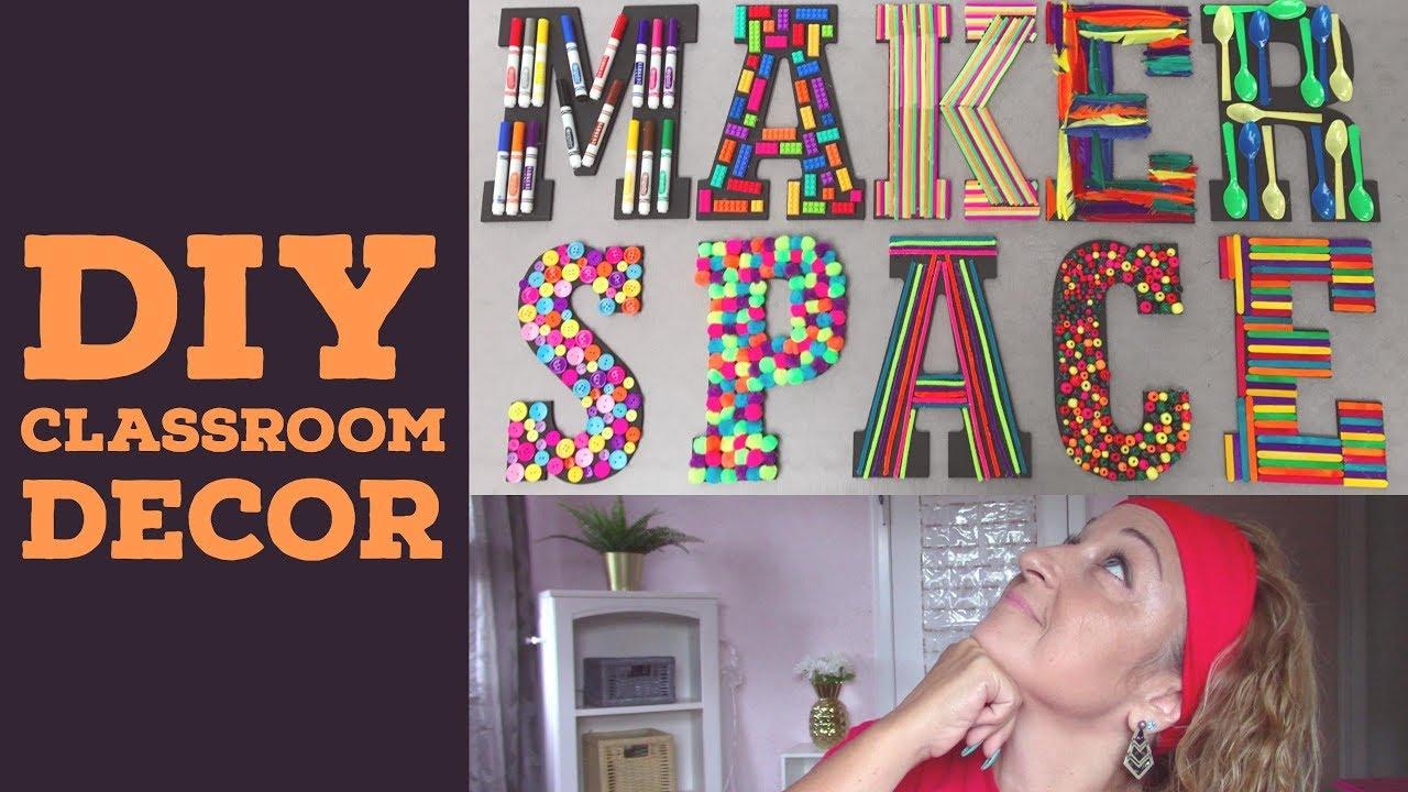 Diy Makerspace Classroom Wall Art Alicia Vilas Youtube