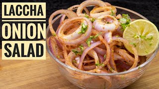 Laccha Onion Salad | Dhaba Style Chatpata Onion Salad | Best Combination with kabab, Barbecue or ..