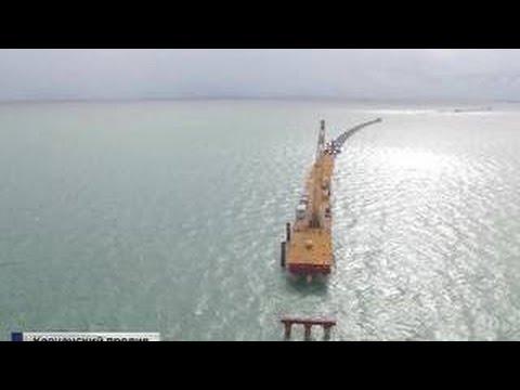 Президент проинспектировал строительство исторического моста в Крым