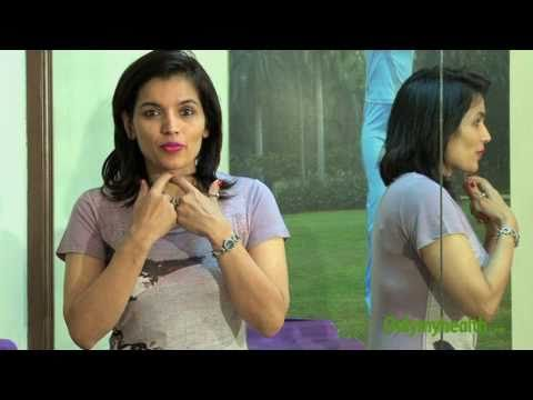 Kiran Sawhney demonstrates exercises for facial muscles to get great jawline and high cheekbones