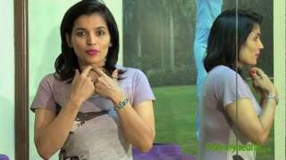 Kiran Sawhney demonstrates exercises to for facial muscles to get great jawline and high cheekbones