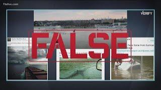 Hurricane Florence: Fake photos vs. real photos