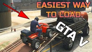 GTA V | PC | EASIEST WAY TO LOAD EQUIPMENT IN TRUCKS | SECRET RAMP