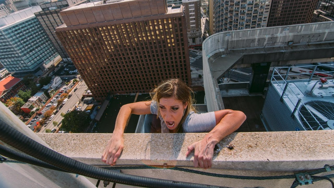 Falling Off 350 Foot Roof Youtube