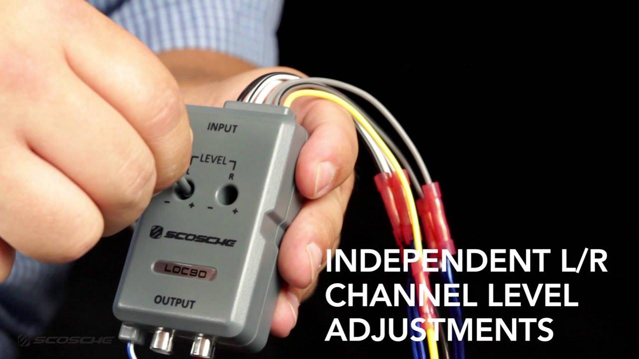 Scosche Wiring Diagram Loc2sl 98 Tj Loc90 Line Output Converter Youtube