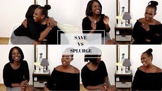 SAVE VS SPLURGE 2019| WHAT WE SAVE ON | Nelly X Angel collabo