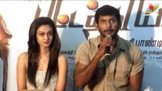 Pattathu Yaanai Press Meet | Vishal, Aishwarya Arjun, Santhanam, Thaman | Songs, Trailer