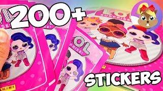 PONAD 200 NAKLEJEK L.O.L.- przyklejamy | Album ze słodkimi lalkami i super rzadkimi naklejkami