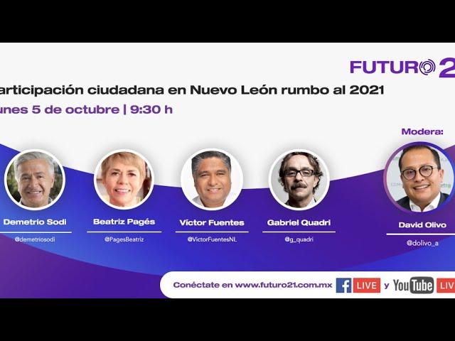 Foro: Participación ciudadana en Nuevo León rumbo al 2021