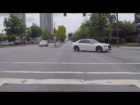 Driving Into SURREY BC Canada - Whalley - City Centre - King George Blvd