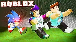 Aventuras Roblox-ESCAPE SONIC. EXE DA ÁREA 53 EM ROBLOX! (Sonic. exe Survival)