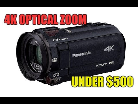 Best 4K Camcorder 2018 Under 500 Panasonic SD Support 64GB Memory Built In Digital 4K Video Camera
