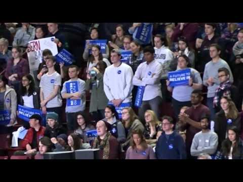 Bernie Sanders at Mullins Center UMASS-Amherst 1 of 2