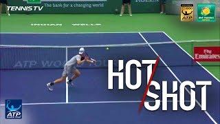 Cuevas Makes Shapovalov Lose His Racquet Indian Wells 2018