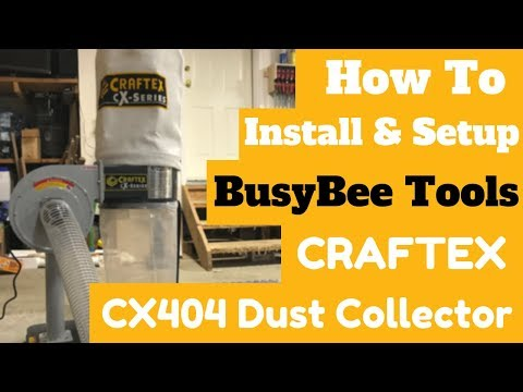 Craftex CX404 Dust Collector Setup // Woodworking Dust Collection // Tool Review
