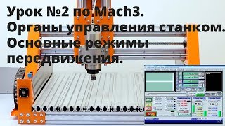 Урок №2 по Mach3. Органы управления станком, основные режимы передвижения.