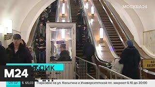 Смотреть видео Пассажиров метро обучат правилам поведения на эскалаторах - Москва 24 онлайн
