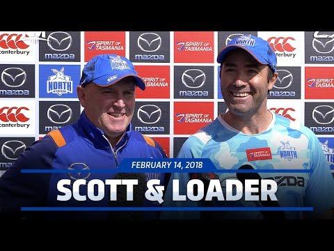 Brad Scott & David Loader media conference (February 14, 2018)