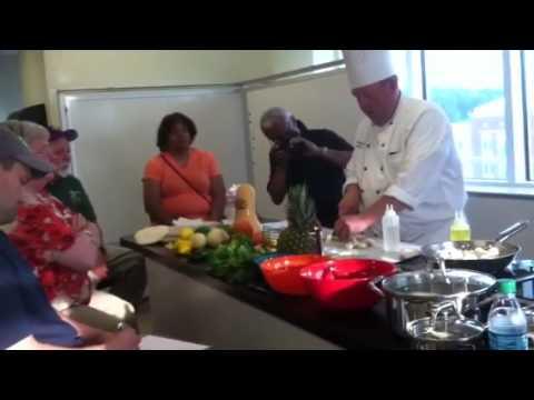 Chef Bryan Sullivan at CCBC teaches Culinary Travel Series