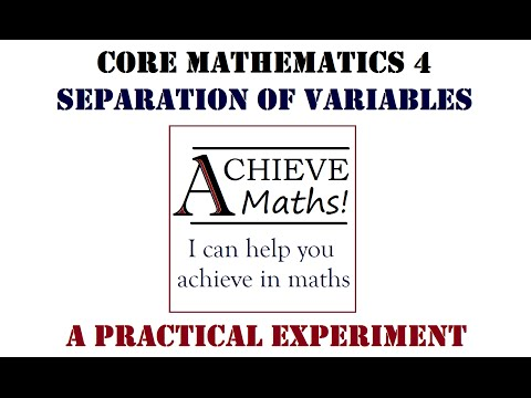 Differential Equations Experiment - Separation of Variables (C4)
