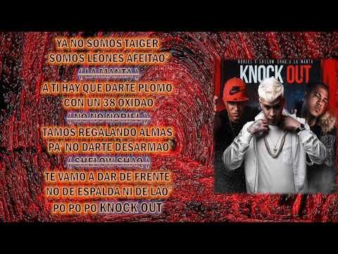 Shelow shaq  ft noriel y la manta Knock out karaoke