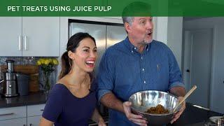 Pet Treats using Juice Pulp