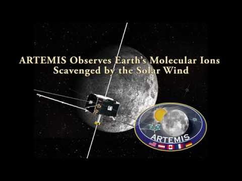 ARTEMIS observes Earth's molecular ions scavenged by the solar wind