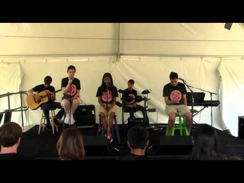 Keystone School's The Band sings Cherry Wine at ISAS Arts Festival