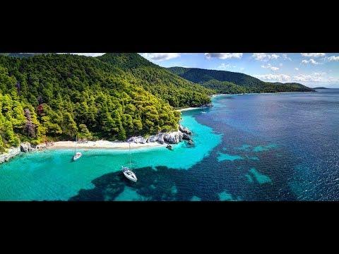 Skopelos (Mamma Mia!) - Alonissos - Skiathos - 4K drone  ( Greece travel )