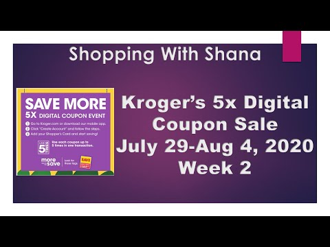 Kroger MUST DO Mega Sale | 7/29-8/4 | 5x Digital Coupon Sale | 4 FREEBIES