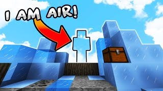 One of Kiingtong's most viewed videos: I Am AiR - Minecraft SkyWars Trolling! (I Am Stone CHALLENGE)