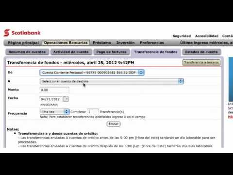 Transferencia de fondos en línea