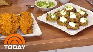 Cheesy Chicken Tenders, Zucchini Fritters: A 25-minute Meal | Today