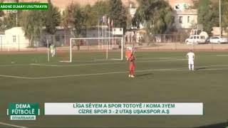 Cizrespor - Utas Uşakspor : 3- 2 Özet 3. Lig 6. Hafta
