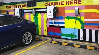 3-Phase Tesla Charging at IKEA