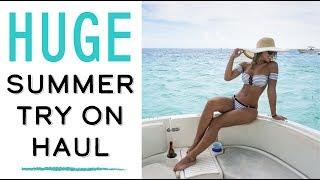 HUGE summer try-on haul | Bikinis, dresses, & more