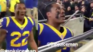 Marcus Peters Leaves Sideline And Goes OFF On SMACK Talking Fan