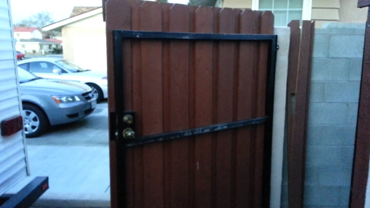 Redwood Gate With Square Tube Framing Youtube