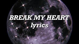 Download Lagu Dua Lipa - Break My Heart MP3