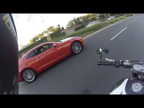 Racing 2 Girls in a Camaro SS + Riding like an Asshole?   LOS ANGELES MOTOVLOGS