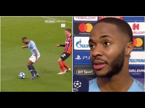 Raheem Sterling's interview after winning crazy penalty for Man City vs Shakhtar