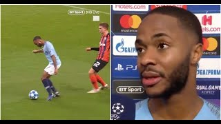 Download Video Raheem Sterling's interview after winning crazy penalty for Man City vs Shakhtar MP3 3GP MP4