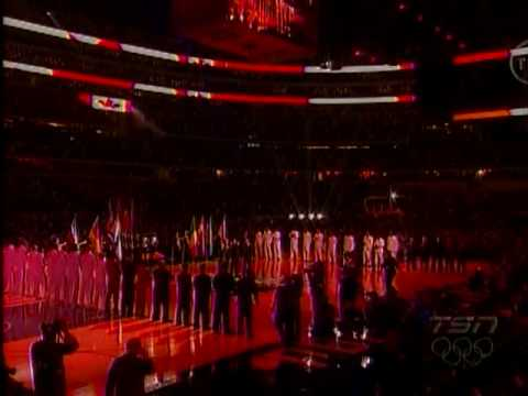 Canadian Tenors- Canadian National Anthem-2010 NBA All-Star Game |